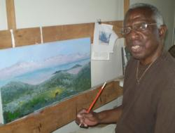 Leo Carty in his studio.