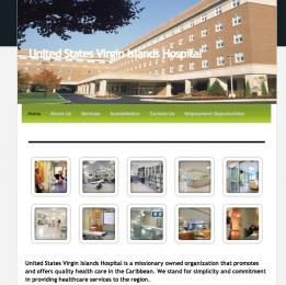 The fraudulent website for the fake United States Virgin Islands Hospital.