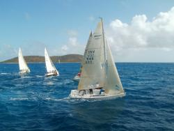 "Top finisher in spinnaker class: ""Boogaloo"""