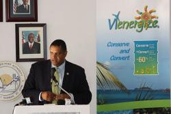 Gov. John deJongh Jr. speaks during Wednesday's press conference.
