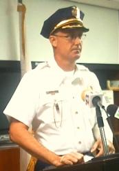 Chief Christopher Howell details the Saturday shooting that left him and Officer Elsworth Jones hospitalized (Photo courtesy of the V.I. Police Department).