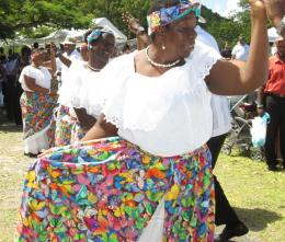Mungo Niles Cultural Dancers perform as part of the USVI-BVI Friendship Day celebration.