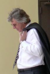 Jeffrey Prosser leaving U.S. Bankruptcy Court on St. Thomas in 2008.