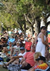 Music fans converge in Frederiksted for the Blues Cruise jams.