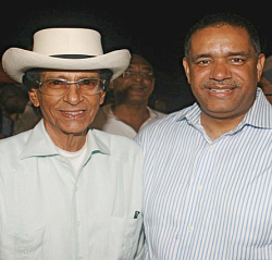 Former Gov. Luis (left) and Gov. John deJongh Jr. in 2009.