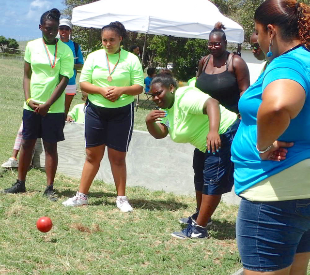 Bocce is one of the sports Special Olympic entrants competed in.