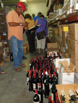 Former Vitelco owner Jeffrey Prosser's wines were auctioned off Saturday. (Bill Kossler photo)