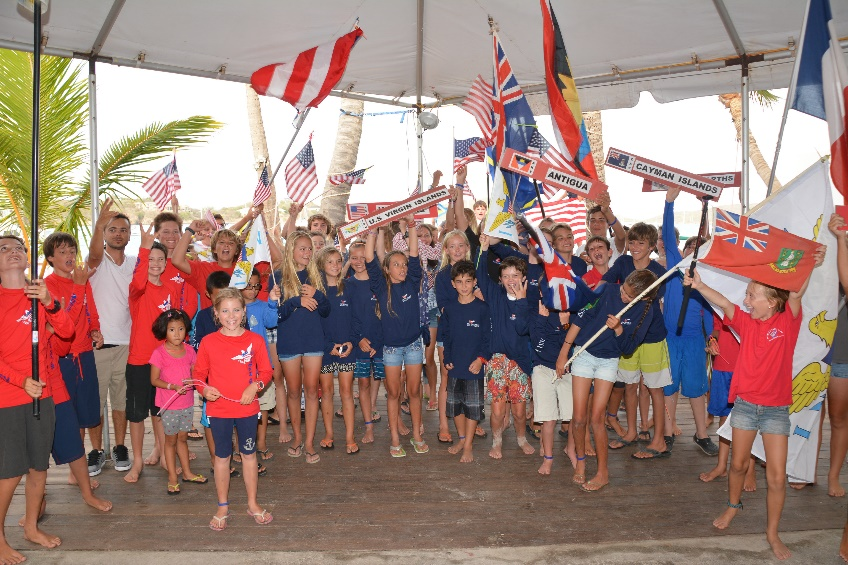Young people from all over take part in the International Optimist Regatta