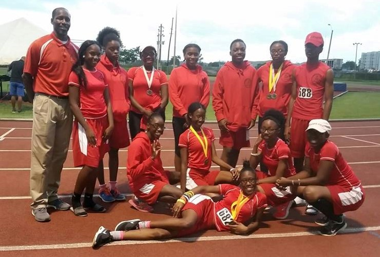 The St. Croix Track & Field Club (Mustangs) with Coach Keith Smith