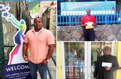 In winners' row -- Taxi Ambassadors Nico VanHolten on St. Thomas (left). Elvis Sprauve of St. John (top right) and Andre Toussaint of St. Croix.