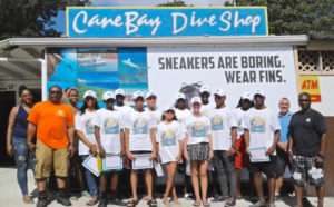 Members of the St. Croix Boys and Girls Club have achieved their open water diver certification through Cane Bay Dive Shop with master instructor Michael Casey. (Photo provided by St. Croix Boys and Girls Club)