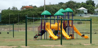 A new toddler gym welcomes youth at the Estate Profit ballpark on St. Croix.