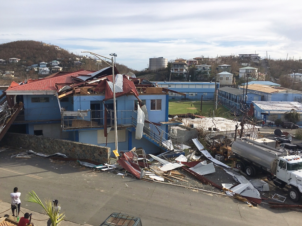 Sprauve School Annex after Irma finished tearing it apart. (Amy Roberts photo)