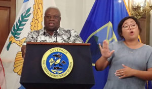 Gov. Kenneth Mapp updates the territory Monday after a week of meetings in Washington D.C.