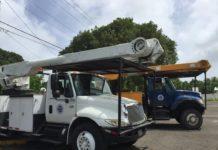 A WAPA line truck. (File photo)