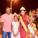 Lt. Gov. Osbert Potter with Festival Queen Shanisa Emmanuel, Prince Te'quan Richards and Princess Kaylona Larocque.