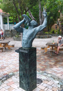 "A copy of the conch blower ""Freedom"" statue, pictured here in Cruz Bay, was presented to Denmark in 2016."