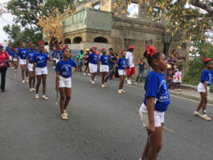 The St. Croix Majorettes parade through town. (Ivy Hunter photo)