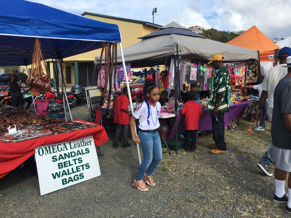 Vendors at Canegata Park are ready as the parade comes to an end. (Ivy Hunter photo)
