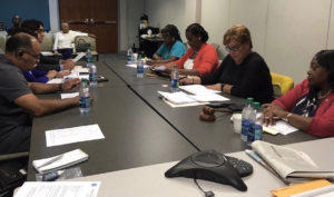JFL Board members discuss the hospital's financial issues Thursday.