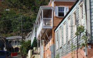 Houses climb the hill on Garden Street. (David MacVean photo)