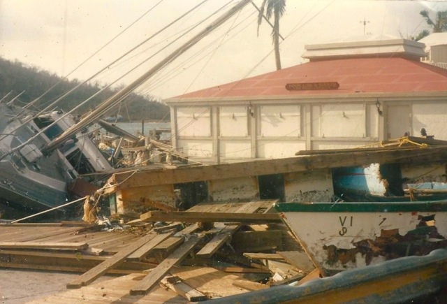 A sailboat slammed into the Frenchtown Bay Side