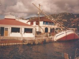 A ruined sailboat by Hook Line and Sinker
