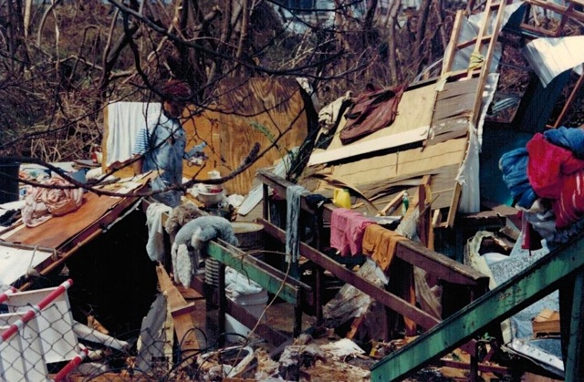 Destroyed house in Nadir