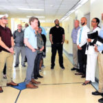 A group of Congressional staffers tours Schneider Regional Medical Center last week as part of their tour of the territory gathering information on the state of the recovery. (Government House photo)