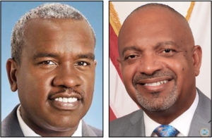 Albert Bryan Jr. and Sen. Tregenza Roach