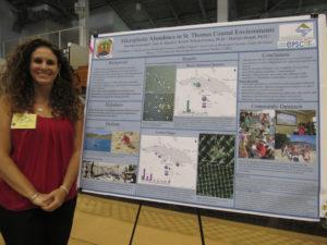 UVI graduate student Danielle Lasseigne's research studied the abundance on micro-plastics in the waters around St. Thomas.