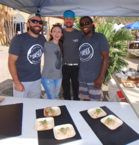The crew from Brix Wine Bar and Bistro took first place in the Lionfish Cookoff at Reef Fest 2018. (Dave MacVean photo)