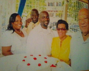 Terence A. Todaman (right) with wife Doris, nephew Lloyd Maynard (the author), Melvin Donovan (Terence's brother), and Dawn Matthew-Maynard (Lloyd's wife).