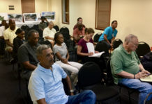 About 15 members of the St. Thomas community attended the DPW town hall on Monday evening.