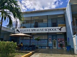 The Clarice Thomas Annex at the Sprauve School awaits demolition.