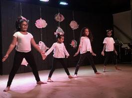 Young dancers perform at Sunday's recital.