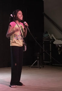 Keishliany Vasquez performs a comedic monologue.