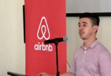 Airbnb's lead regional policy manager Carlos Munoz, who spoke on St. Thomas Thursday. (Facebook photo)