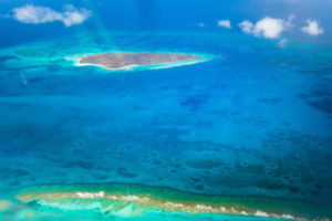 An aerial view of the waters off St. Croix, as seen from the Carnegie Airborne Observatory