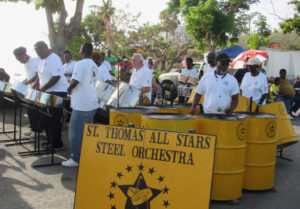 The St. Thomas All Stars perform in Saturday's Pan O Rama.