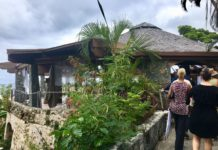 Members of the V.I. business community get a firsthand view of the hurricane damage at Caneel Bay Resort in April.