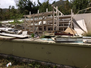 A damaged storage area at the Caneel Bay Resort.