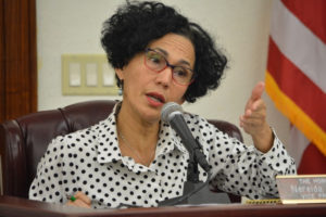 Sen. Nereida Rivera-O'Reilly introduced a motion Wednesday to subpoena the V.I. Carnival Committee's records. (V.I. Legislature photo)