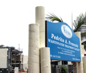 The Pedrito A. Francois Wastewater Treatment plant on St. Thomas.