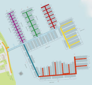 Visitors to the St. John Marina website can reserve a slip on the project map.