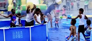 Kids enjoy a wet and wild afternoon at Wet Fete Kids Edition.