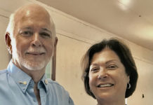 Rotary International President Barry Rassin and his wife, Esther visited Frederiksted Monday.