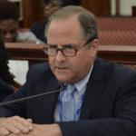 WAPA CEO Lawrence Kupfer testifies before the Senate Finance Committee Wednesday.