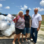 From left, Diane and Gary Brooks and Mafi Hamed are spearheading the plastics collection project.