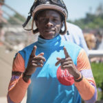 "St. Croix-born jockey Euclyn ""Pede"" Prentice Jr. (Photo by Ricky Plaskett)"